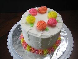 Ribbon Rose Cake