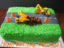 Birthday Under Construction Cake