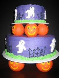Ghosts and Pumpkins Cake