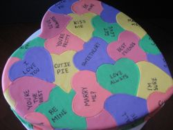 Candy Hearts Cake