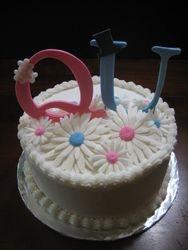 Q and U Wedding Cake