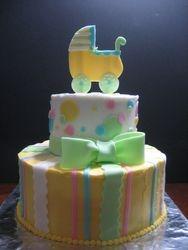 Baby Buggy Baby Shower Cake