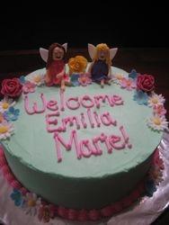 Fairy Garden Baby Shower Cake