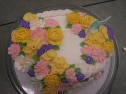 Floral Basket Cake