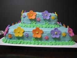 Neon Flower Cake