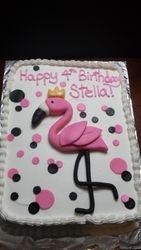Princess Flamingo Cake
