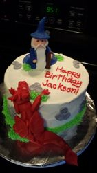 Wizards and Dragons Cake