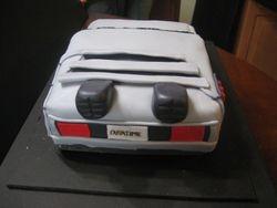 Back to the Future Delorean Cake