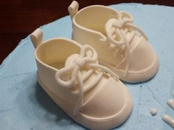 Baby Booties Baptism Cake