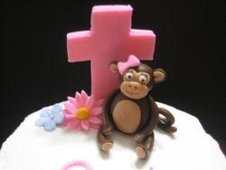 Monkey Baptism Cake