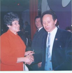 Charles with Mary Reeves