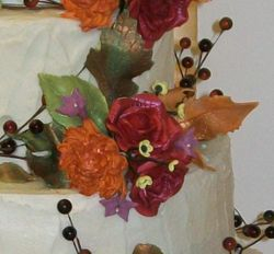 Close up of Christy's flowers