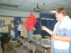 Banners waving