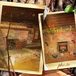 Upstairs Fireplace