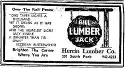 Lumber Advertisement