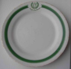 Clay's Tea Rooms Plate