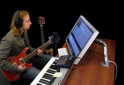 SOPORTE para Imac VESA- tipo Brazo para monitor 21,27 Apple Mac | Base Escritorio Articulado