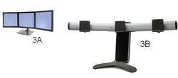 Soporte triple giratorio 360 grados de pantalla GAMING ergotron mexico