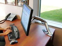Soportes o base tipo brazos articulado para imacs o monitor de pc de escritorio,Brazo MX Ergotron,Pantalla
