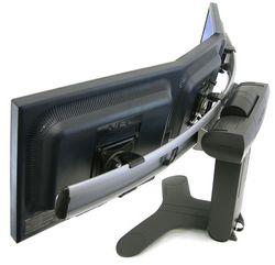 Vista lateral de Base triple o soporte para monitores Pantallas LCD LED