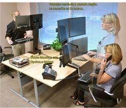 ergotron mexico Workfit-s trabajar sentado y de pie con facilidad posicion de descanso