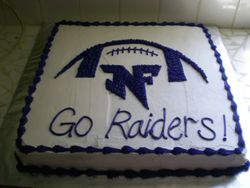 North Forsyth Raider Football cake