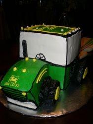 Big Green Cartoon Tractor