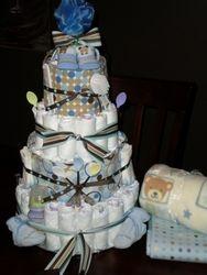 Little boy diaper cake