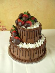 Chocolate drizzle & strawberries