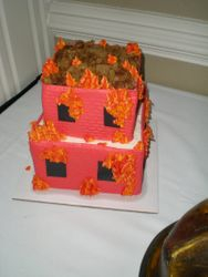Kevin's fireman cake