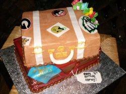 Harvey's luggage cake
