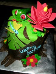 Red Eyed Tree Frog Cake