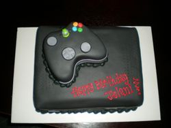 Black X-box cake