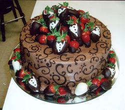 Chocolate Strawberry Grooms Cake