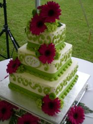 Chastity's wedding cake
