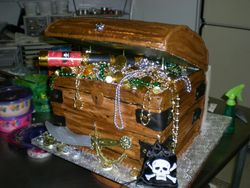 Treasure Chest...yes, it's a wedding cake!