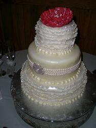 Lauren's ruffle wedding cake