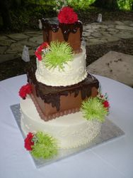 Patrick & Nisha's wedding cake