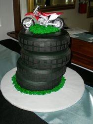 Stack of motorcycle tires