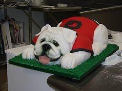 UGA Bulldog cake