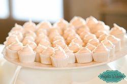Mini cupcakes - lemon w/ raspberry buttercream