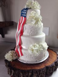 American flag & lace