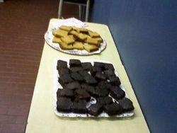 Brownies and orange spongecake