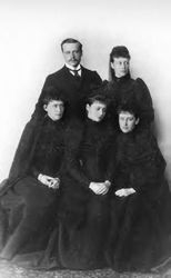 Alix and her siblings in 1892