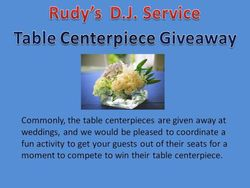 Table Centerpiece Giveaway