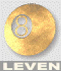 leven logo 8 ball