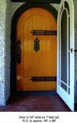 over 100 year old door