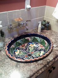 Mexican Hand painted Talavera Sink