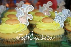 Jungle theme Baby Shower Cupcakes