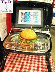 Jumbo Hamburger Cupcake
